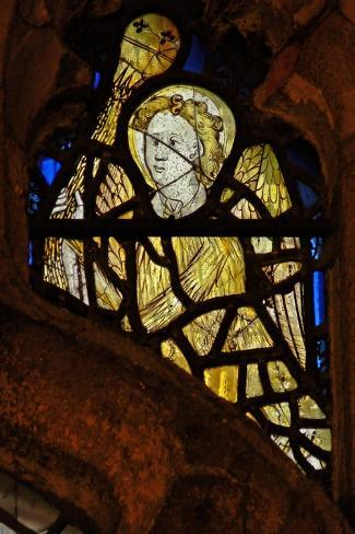 Window S3 Depicting an Angel with a Censer--Stretched Canvas Print