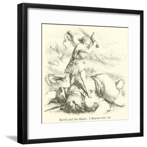 David and the Giant, 1 Samuel, Xvii, 51--Framed Art Print