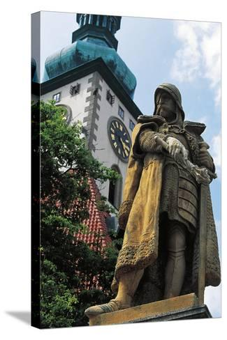 Monument to Jan Hus--Stretched Canvas Print