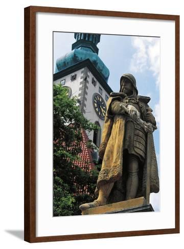 Monument to Jan Hus--Framed Art Print
