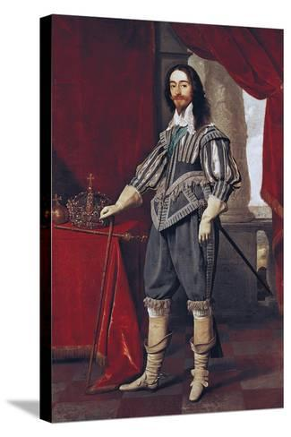 Portrait of Charles I--Stretched Canvas Print