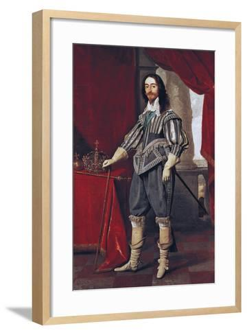 Portrait of Charles I--Framed Art Print