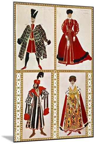 Costume Sketches-Leon Bakst-Mounted Giclee Print