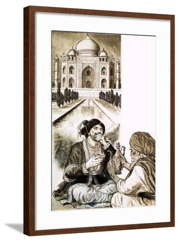 Shah Jehan and the Taj Mahal--Framed Art Print