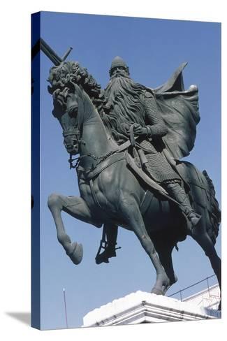 Equestrian Statue of El Cid--Stretched Canvas Print