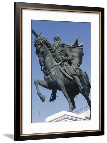 Equestrian Statue of El Cid--Framed Art Print