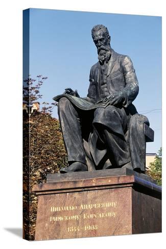 Nikolai Rimsky-Korsakov Statue--Stretched Canvas Print