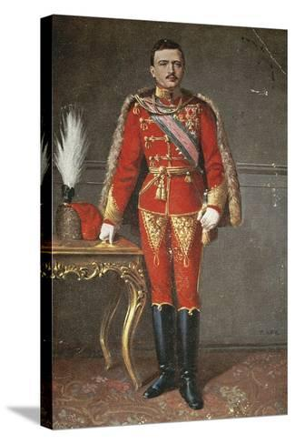 Portrait of Charles I of Habsburg--Stretched Canvas Print