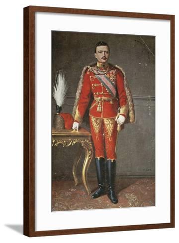 Portrait of Charles I of Habsburg--Framed Art Print