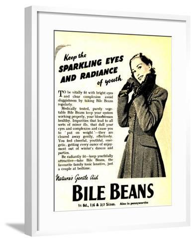 Advertisement for 'Bile Beans, 1950S--Framed Art Print