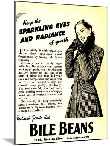 Advertisement for 'Bile Beans, 1950S--Mounted Giclee Print