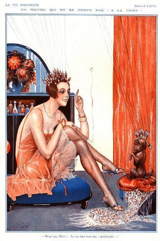 Illustration from La Vie Parisienne, 1920s--Stretched Canvas Print