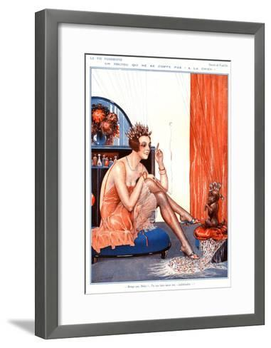 Illustration from La Vie Parisienne, 1920s--Framed Art Print