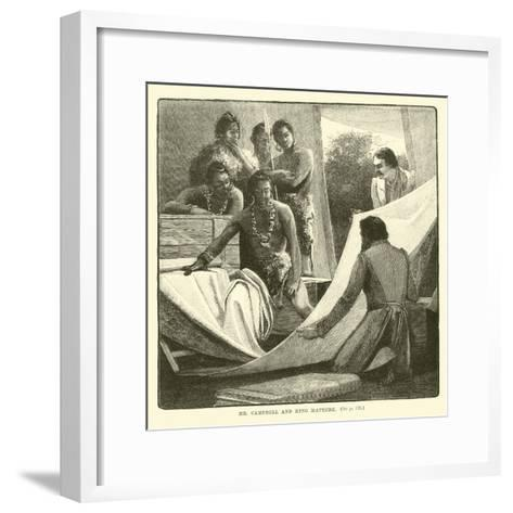 Mr Campbell and King Mateebe--Framed Art Print