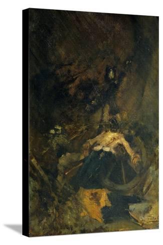 Fall, 1886-Gaetano Previati-Stretched Canvas Print