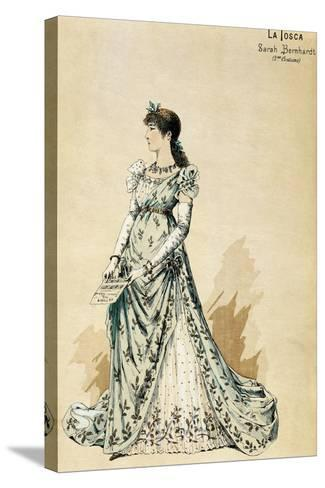 Second Costume for Actress Sarah Bernhardt--Stretched Canvas Print