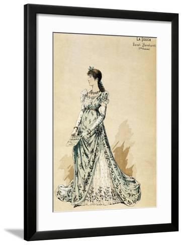 Second Costume for Actress Sarah Bernhardt--Framed Art Print
