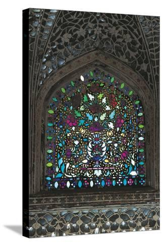Stained Glass Window, Amber Fort or Amer Palace--Stretched Canvas Print