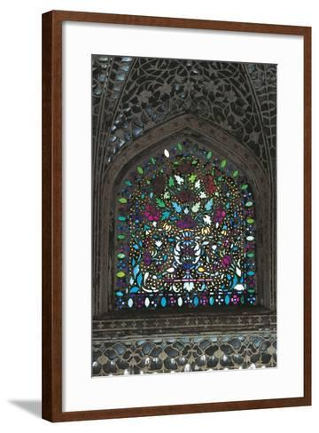 Stained Glass Window, Amber Fort or Amer Palace--Framed Art Print