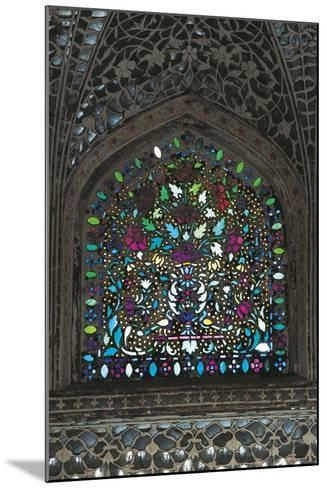 Stained Glass Window, Amber Fort or Amer Palace--Mounted Giclee Print