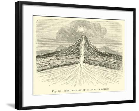 Ideal Section of Volcano in Action--Framed Art Print