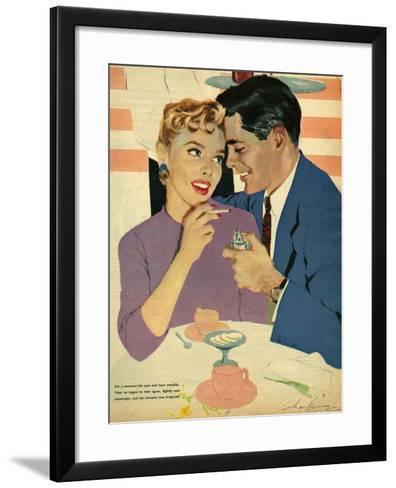 Illustration from Magazine, 1958--Framed Art Print