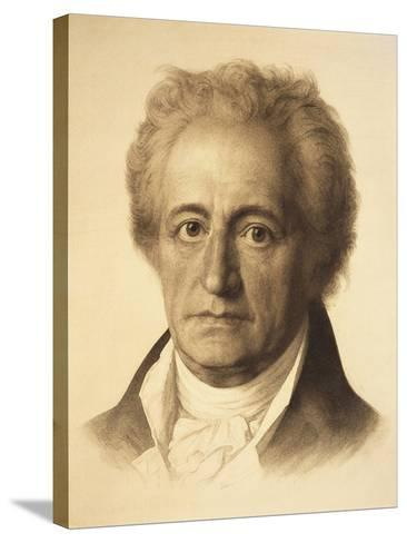 Portrait of Johann Wolfgang Von Goethe--Stretched Canvas Print