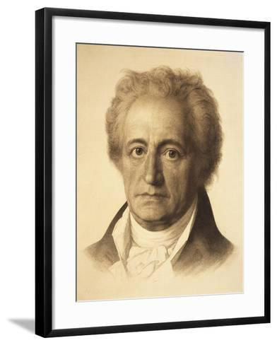 Portrait of Johann Wolfgang Von Goethe--Framed Art Print