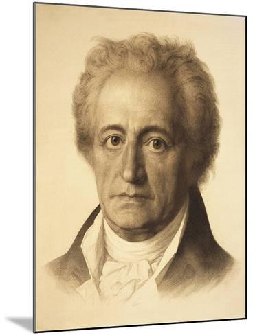 Portrait of Johann Wolfgang Von Goethe--Mounted Giclee Print