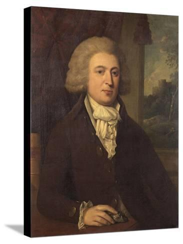 Unknown Gentleman with a Mineral Specimen, C.1790--Stretched Canvas Print