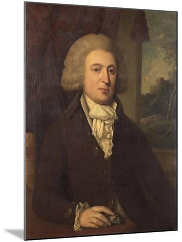 Unknown Gentleman with a Mineral Specimen, C.1790--Mounted Giclee Print
