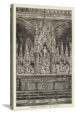 Exeter Cathedral, the Reredos--Stretched Canvas Print