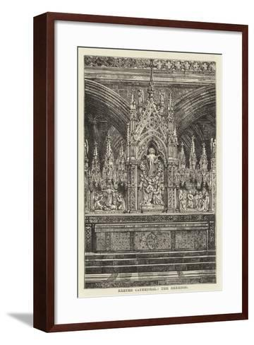 Exeter Cathedral, the Reredos--Framed Art Print