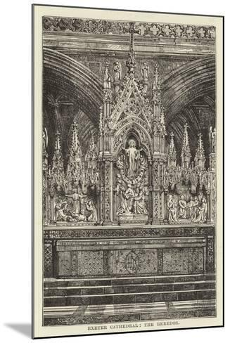 Exeter Cathedral, the Reredos--Mounted Giclee Print