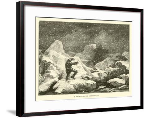 A Snowstorm in Greenland--Framed Art Print