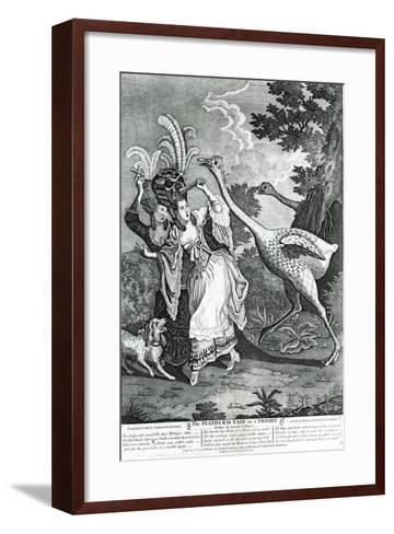 The Feathered Friend in a Fright, 1779-John Collet-Framed Art Print
