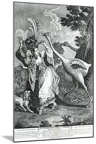 The Feathered Friend in a Fright, 1779-John Collet-Mounted Giclee Print