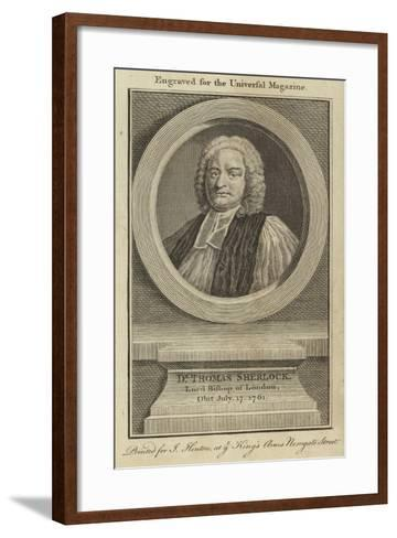 Dr Thomas Sherlock, Lord Bishop of London--Framed Art Print