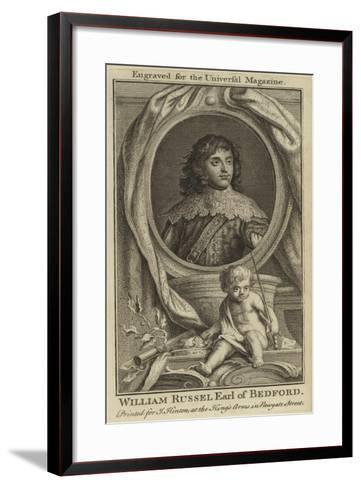 William Russel, Earl of Bedford--Framed Art Print