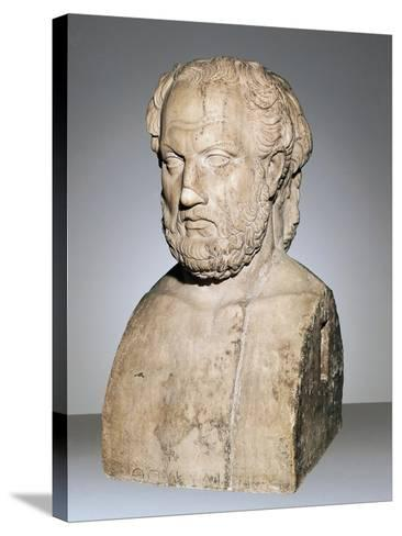 Bust of Thucydides--Stretched Canvas Print