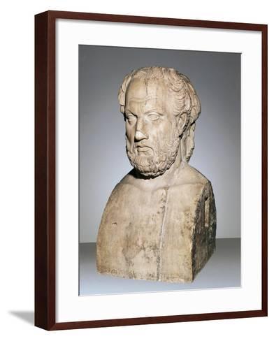 Bust of Thucydides--Framed Art Print