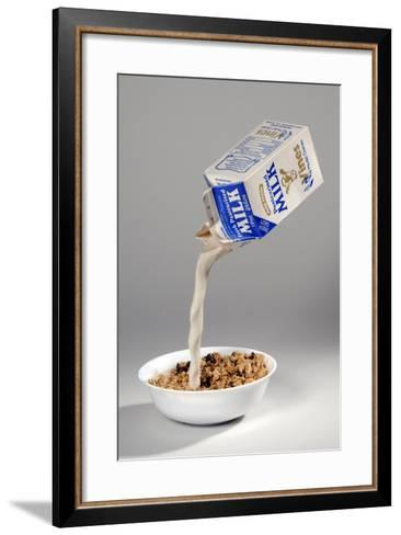 Fake Milk Carton and Bowl, from a Joke Shop--Framed Art Print