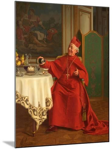 Une Bonne Bouteille, or a Good Bottle, 1880S-Andrea Landini-Mounted Giclee Print