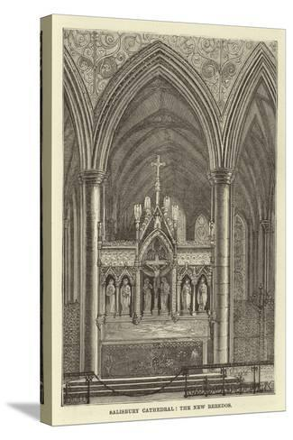 Salisbury Cathedral, the New Reredos--Stretched Canvas Print