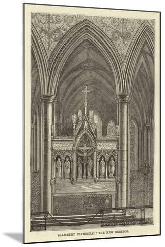 Salisbury Cathedral, the New Reredos--Mounted Giclee Print