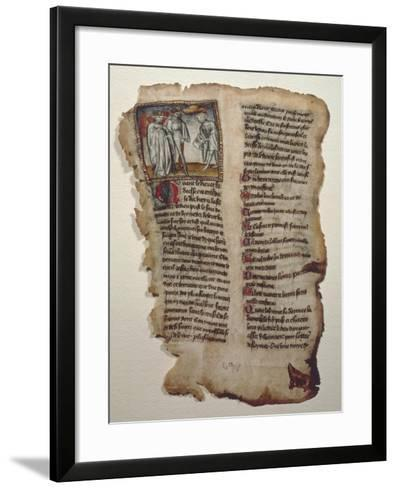 Illuminated Page from Le Chevalier Errant--Framed Art Print