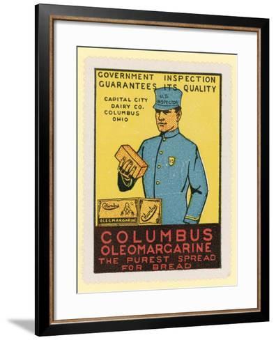 Columbus Oleomargarine--Framed Art Print