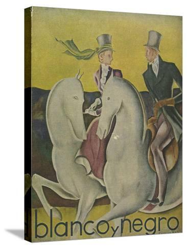 Front Cover of 'Blanco Y Negro', C.1920S--Stretched Canvas Print