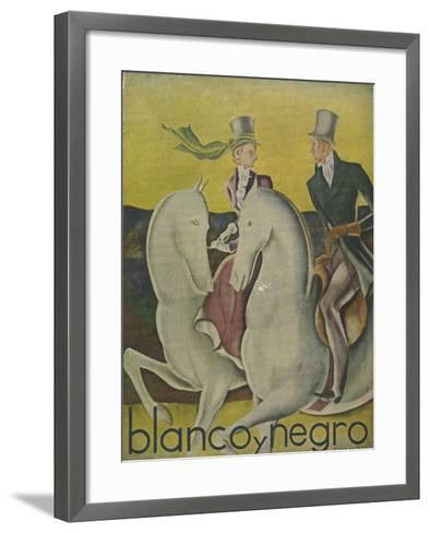 Front Cover of 'Blanco Y Negro', C.1920S--Framed Art Print
