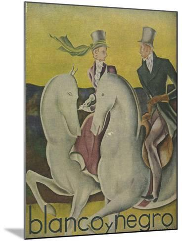 Front Cover of 'Blanco Y Negro', C.1920S--Mounted Giclee Print